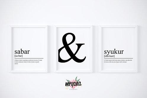 Sabar & Syukur Set Printout + Frame