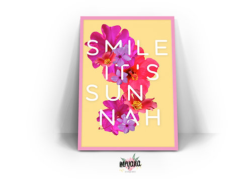 Smile It's Sunnah Frame Quote Printout