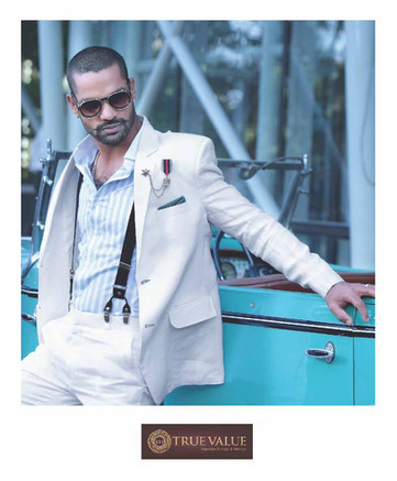 Campaign Shoot with Shikhar Dhawan for True Value Suitings and Shirtings