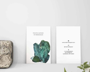 Visiting Card Design for Indian Artist - Mahima Kapoor