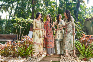Campaign shoot for womenswear brand Shree The Indian Avatar