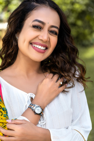Styling for Tissot watches featuring pop star Neha Kakkar