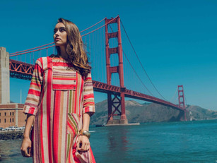 Campaign shoot for womenswear brand Shree The Indian Avatar in San Fransisco
