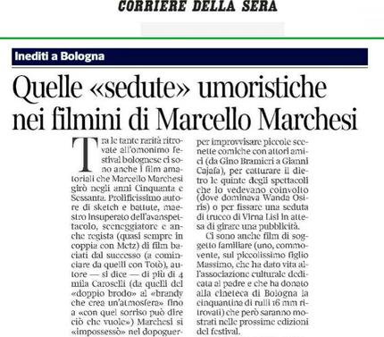 Quelle <<sedute>> umoristiche nei filmini di Marcello Marchesi
