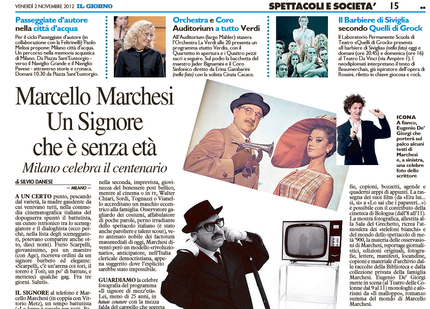 Marcello Marchesi - Un signore che è senza età