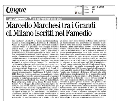 Rassegna Stampa 3 articoli su Marcello Marchesi
