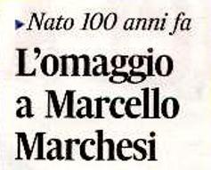 L'omaggio a Marcello Marchesi