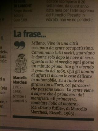 Trafiletto Corriere della Sera