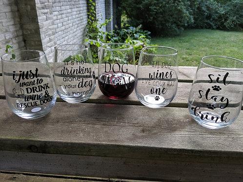 Custom Stemless Glass