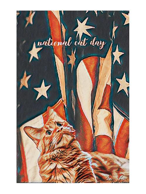National Cat Day PAWtriotic Cat