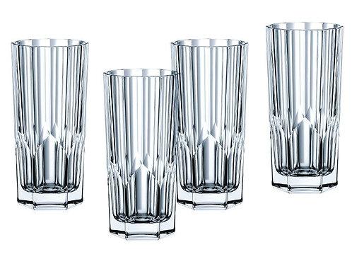 Vaso de vidrio alto
