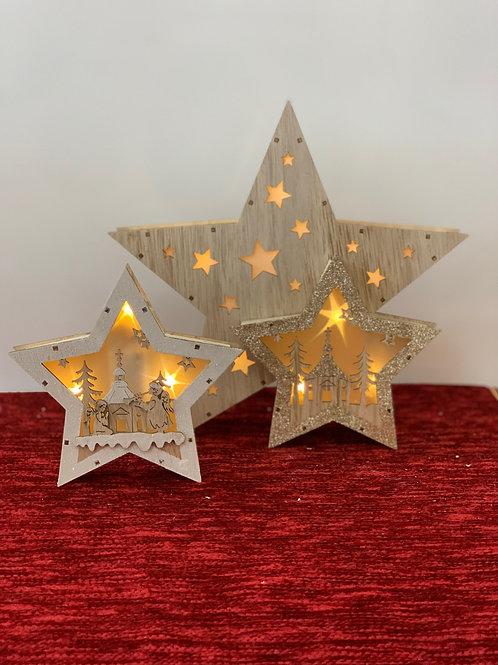 Wood Star led