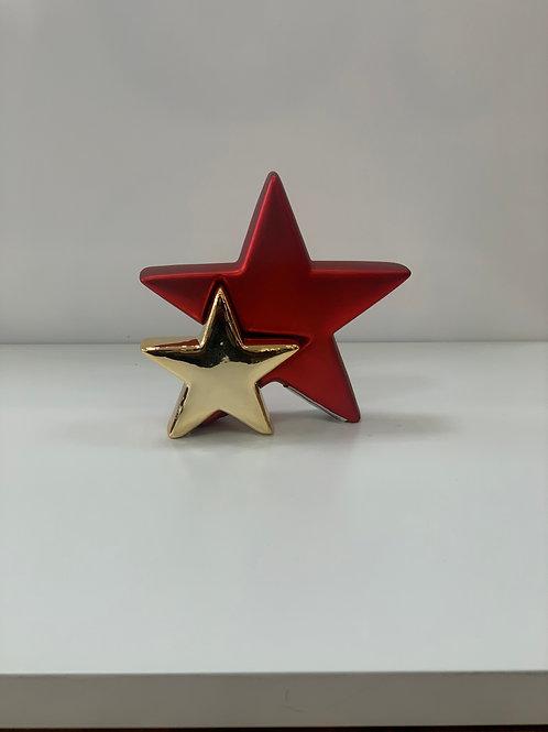 Doble estrella de cerámica