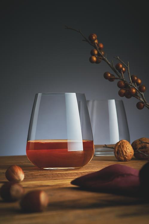 Copa sin tallo para vino blanco