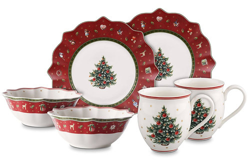 Breakfast for 2 : Red (6 pc set)