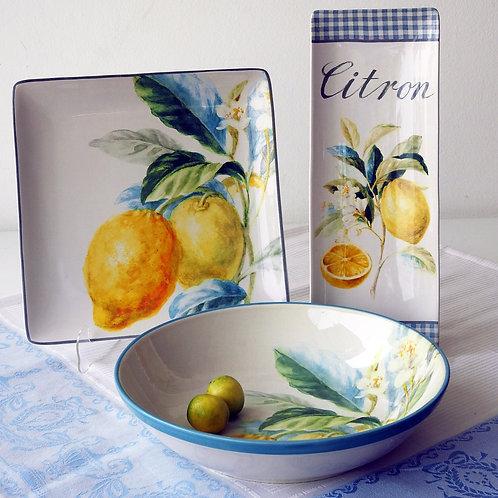 Plato de limones