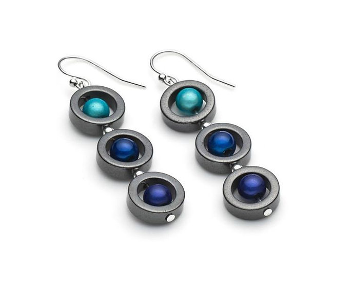 Harlequin Triple Earrings