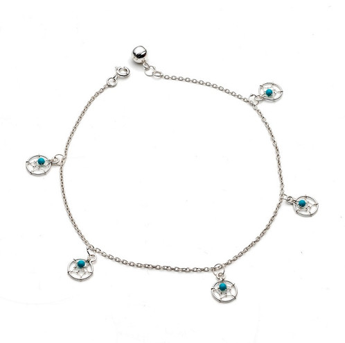 dreamcatcher turquoise anklet catcher hardtofind sterling silver dream and