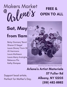 Makers Market at Arlene's Sping 2018 POS