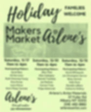 Holiday Makers Market at Arlenes  2018 P
