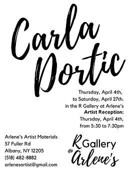 Carla Dortic at Arlene's Poster.jpg