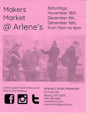 Makers Market  Arlenes Poster SMALL COLO