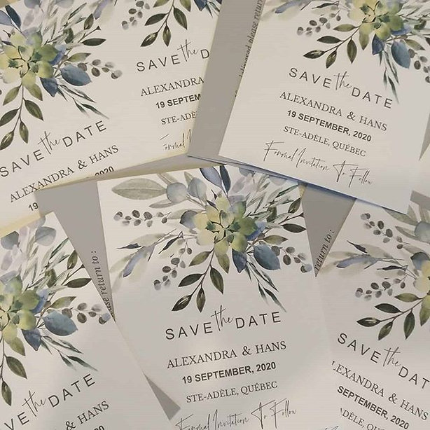 Gorgeous Save The Dates for Alexandra &