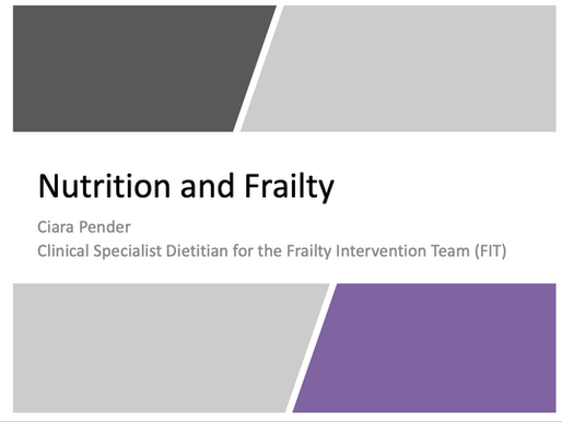 GEM Teaching: Nutrition and Frailty