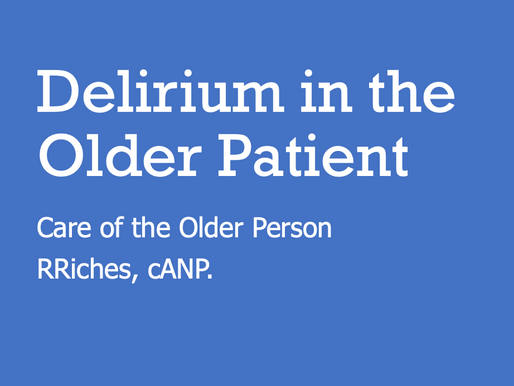 GEM Teaching: Delerium in the ED