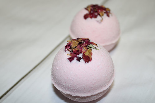 Strawberry Lemon Bath Bomb