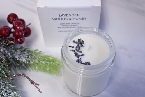 Soy Wax Candle   Lavender Woods & Honey