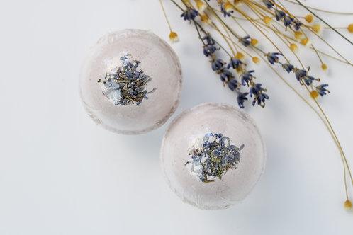 Lavender + Eucalyptus Hemp Bath Bomb