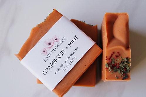 Grapefruit + Mint Artisan Soap