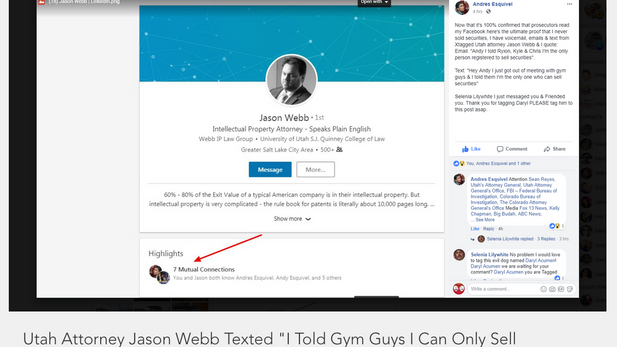 We have all records from Jason Webb including recordings of voicemail, meetings, text, emails, etc.