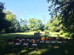 Summer Worship in the Quiet Garden