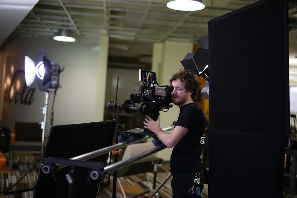 Director of Photography Jordan Danelz behind the camera with Chronicle Cinema