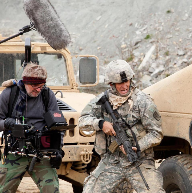 Kevin filming military