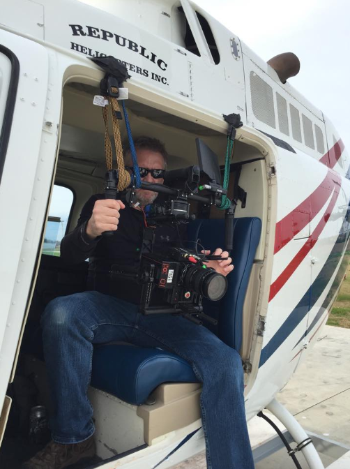 Kevin in helicopter