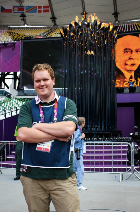 Zach working at Olympic Stadium in London 2012