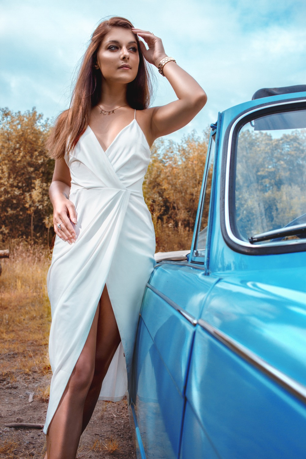 Photoshoot with Kippford Classic Car Hire and Makeup by Hania