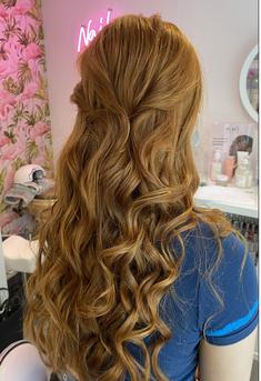 Half Updo Wedding Hair Scotland