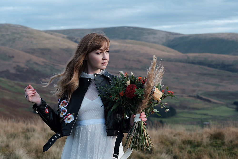 Styled Elopement Photoshoot Scotland, Hair and Makeup by Hania.