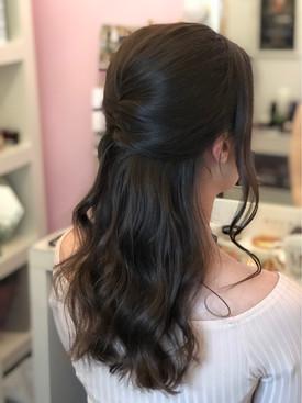 Boho Half updo Hairstyle Scotland