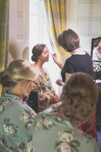 wedding makeup at auchen castle
