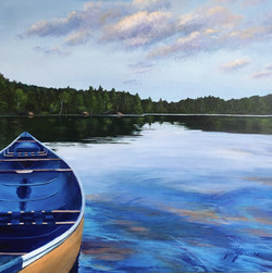 SOLD 'Canoe on Shore Sharbot Lake'.
