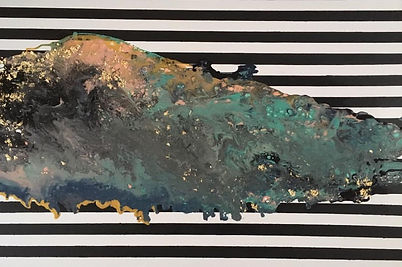 Acrylic Pour with gold Leaf.jpg