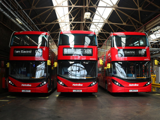 Two-way traffic as electric London buses provide energy to National Grid