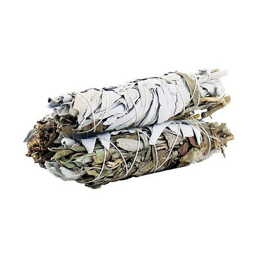Smudge Stick - White Sage & Black Sage - Sleep Well with Positive Energy 10cm