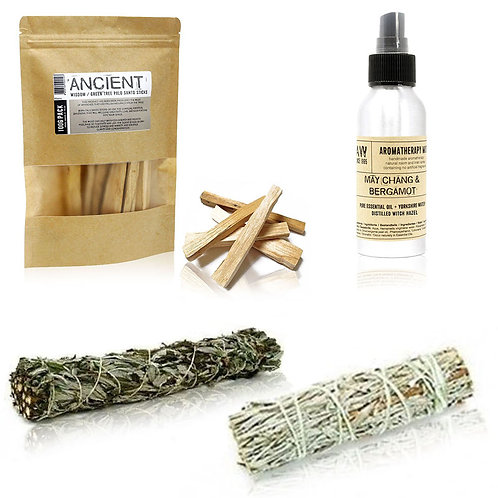 Cleanse your Space Kit - Smudge Sticks - Palo Alto - Essential Oil Room Mist