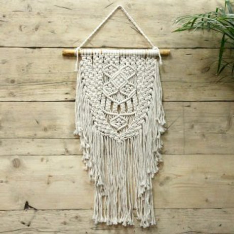 Macrame Wall Hanging - Over Abundance - Handwoven Cotton Bohemian Tapestry Large